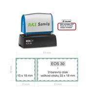 Razítko samobarvící EOS 30 dvoubarevný otisk
