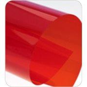 Krycí fólie transparentní, A4, červené, 200 mic.