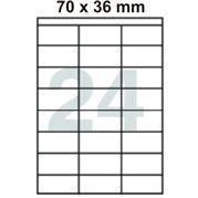 Samolepící etikety 70 x 36 mm