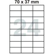 Samolepící etikety 70 x 37 mm