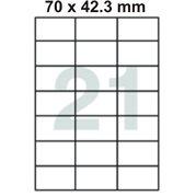 Samolepící etikety 70 x 42.3 mm