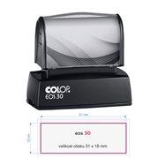 Razítko samobarvící Colop EOS 30 modré