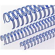 """Kovové hřbety 3:1 11 mm (7/16"""") modré"""