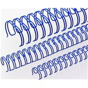 """Kovové hřbety 3:1 9.5 mm (3/8"""") modré"""