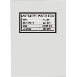 Laminovací fólie 54 x 86 mm, 125 mic.