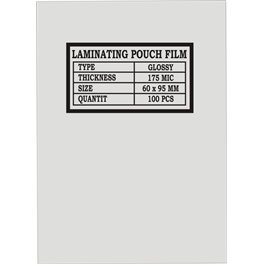 Laminovací fólie 60 x 95 mm, 175 mic.