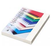 Zadní desky leštěný karton, A4, bílé, 250g