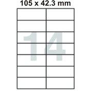 Samolepící etikety 105 x 42.3 mm
