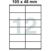 Samolepící etikety 105 x 48 mm