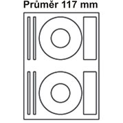 Samolepící etikety na CD, prům. 117 mm