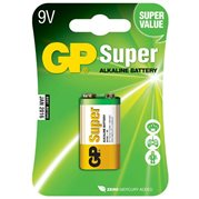 Baterie alkalická SUPER, 9V