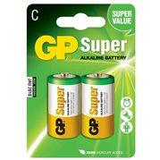 Baterie alkalická SUPER, 1.5V, malý monočlánek C