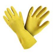 Rukavice úklidové, latexové, žluté