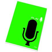 Poznámkový blok lepený A4, čtvereřkovaný, 50 listů