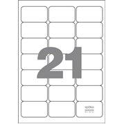 Samolepící etikety 21 etiket/arch (63,5 x 38,1 mm)