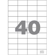 Samolepící etikety 40 etiket/arch (52,5 x 29,7 mm)
