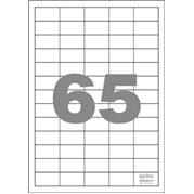 Samolepící etikety 65 etiket/arch (38.1 x 21.2 mm)